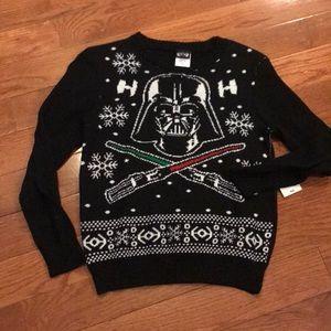 NWT kid's Star Wars Christmas sweater S 8